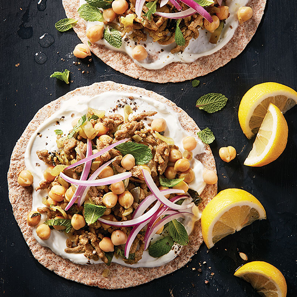 Curried lamb tortillas