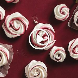 How to make meringue swirls