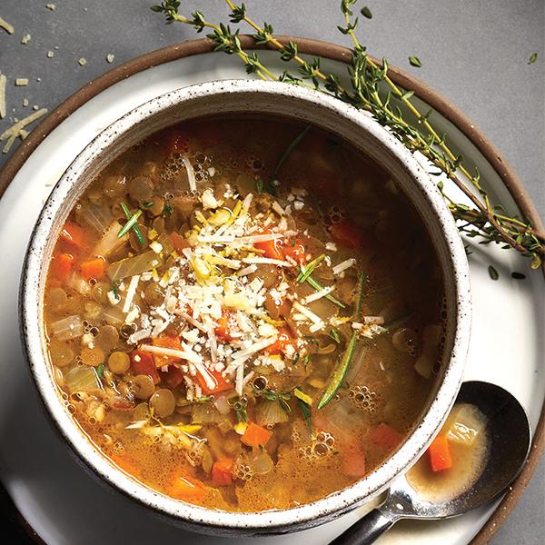 Italian style lentil soup
