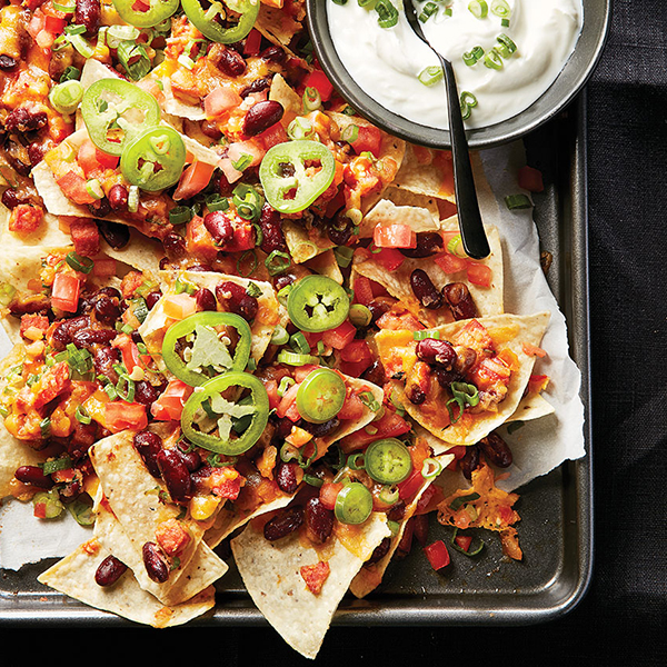 Super Bowl party recipes: Nachos with beans and chorizo