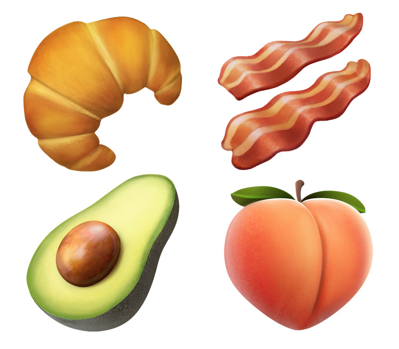 Photos of new emoji in iOS 10.2