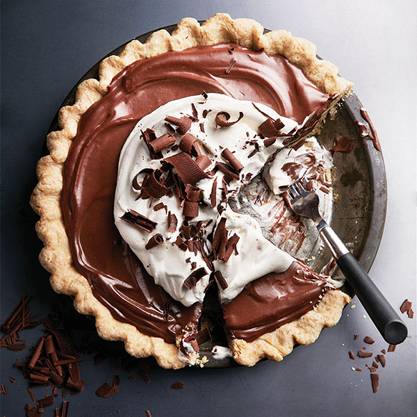 Velvety chocolate pie