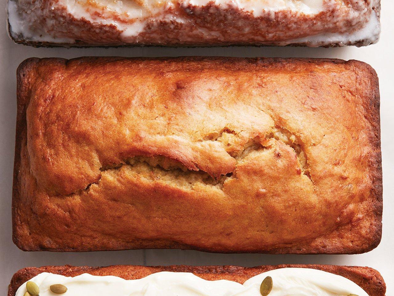 Cricket powder works in banana bread. Photo: banana bread loaf.