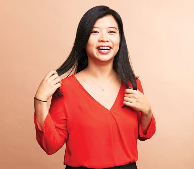 'It's a very easy way to compare the safety of products, without having to read every ingredient on the labels yourself,' Lily Tse says of the app. (Canadian Business)