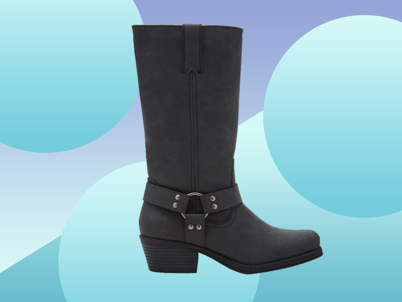 Black knee-high boots for wide calves