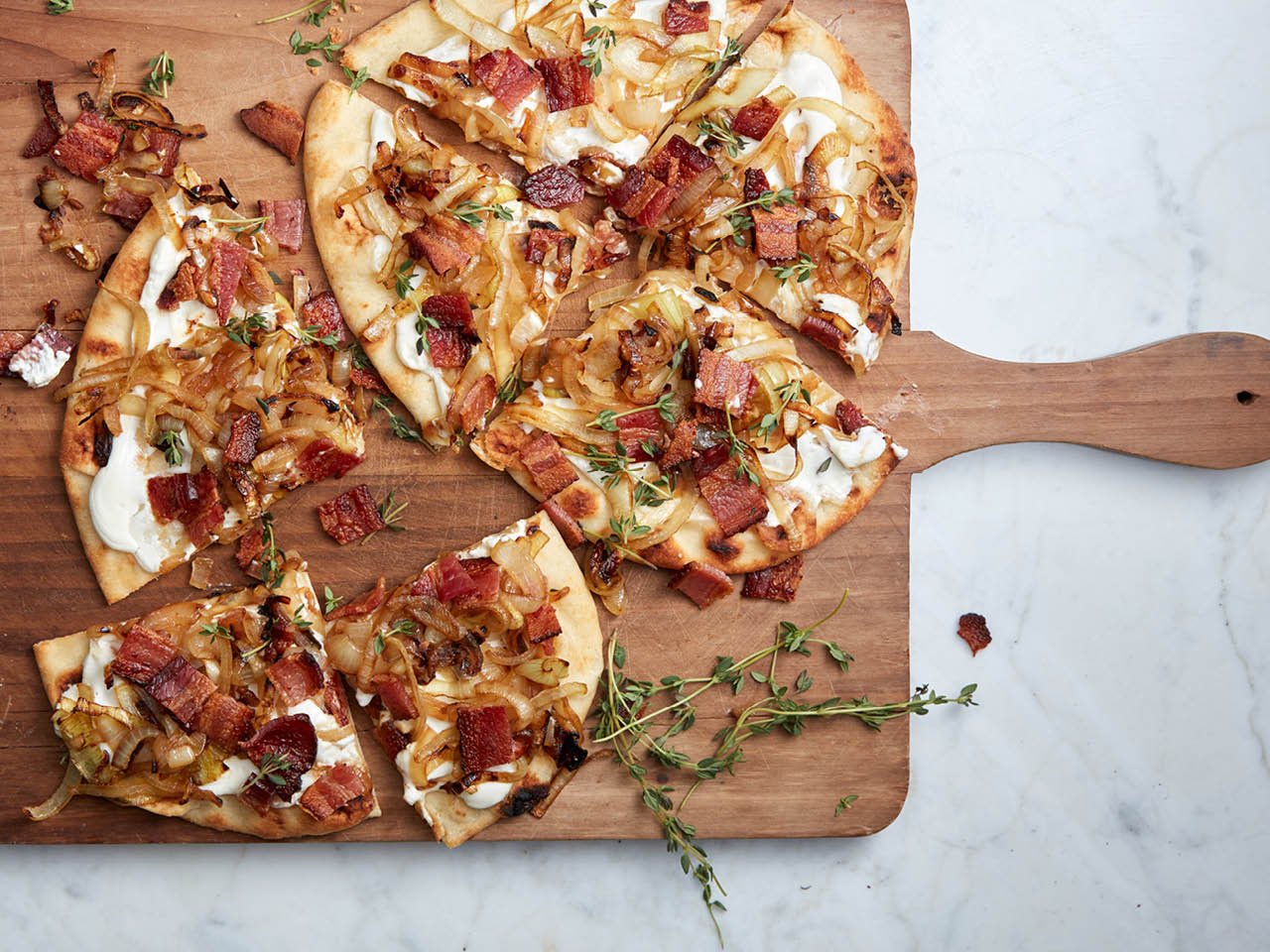 Easy dinner recipes: Alsatian bacon and onion pizza