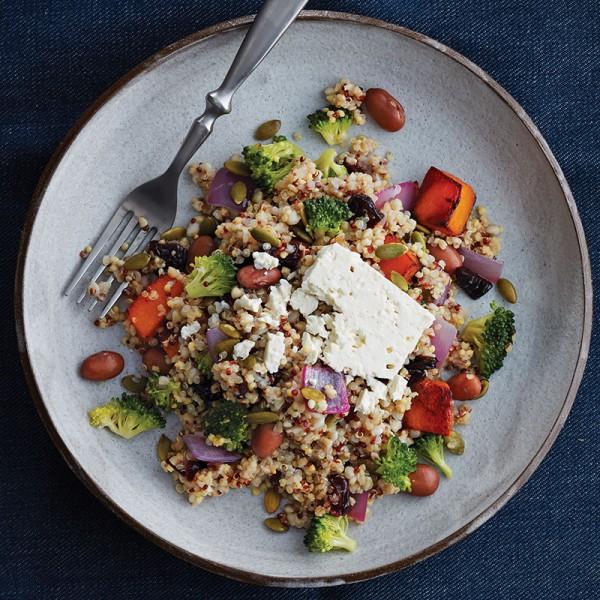 quinoa recipes: Squash salad with pumpkin seeds