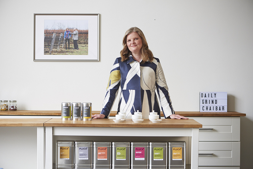Jennifer Commins found of Pluck Tea