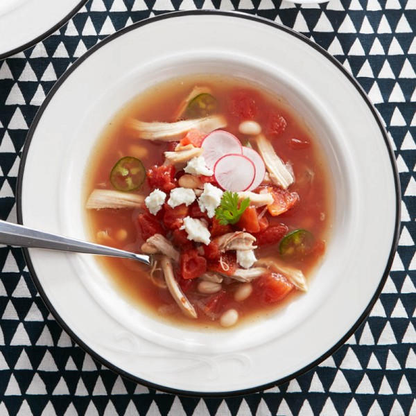 Quick chicken posole