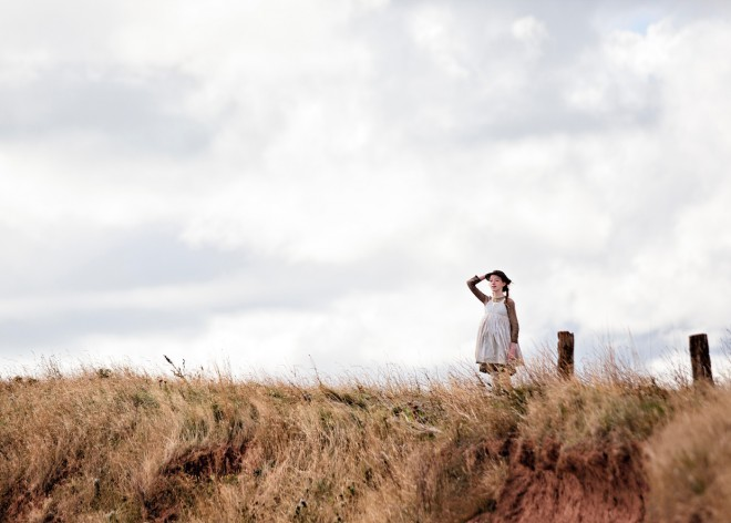 Photo of Amybeth McNulty playing Anne of Green Gables in the new series Anne.