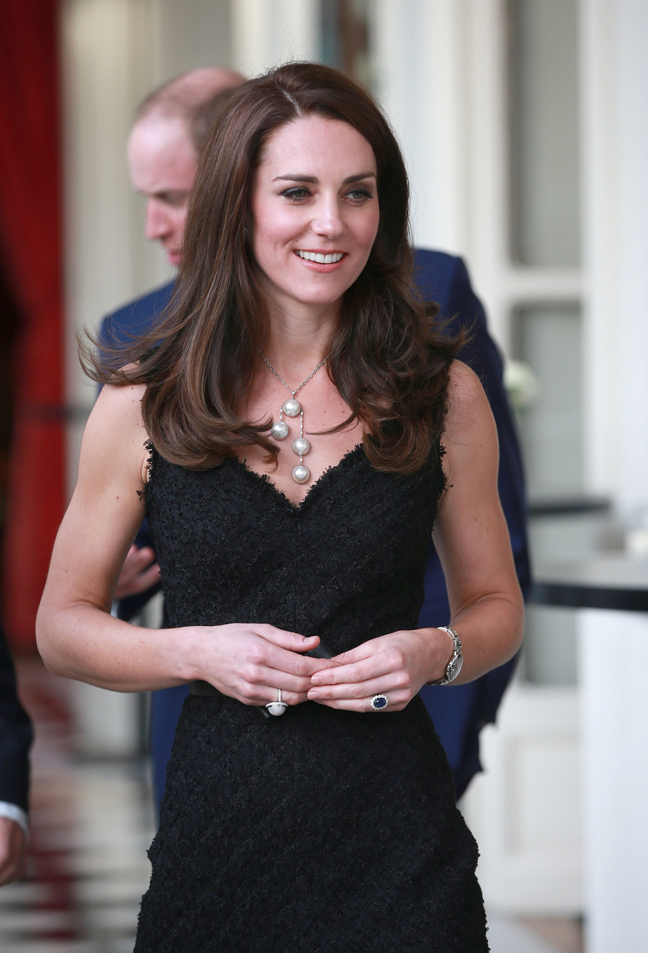 The Duchess of Cambridge attends a reception at the British Embassy in Paris, March 2017. (Rex / Shutterstock) Catherine Duchess of Cambridge attends a reception at the British Embassy Prince William and Catherine Duchess of Cambridge visit to Paris, France - 17 Mar 2017