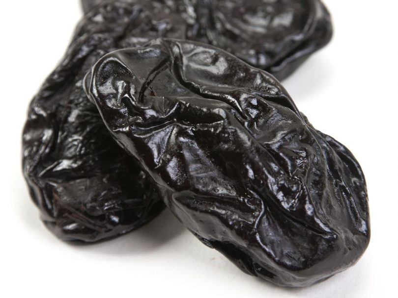 Dried fruit prune up close