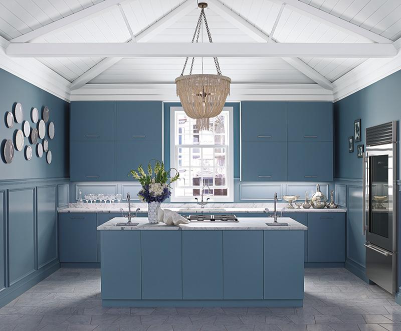 Province blue kitchen