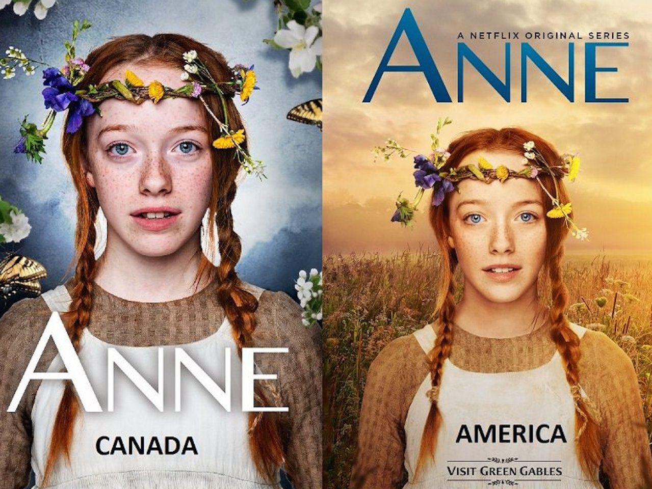 'Don't Photoshop our Anne'! Canadians react to American promo posters
