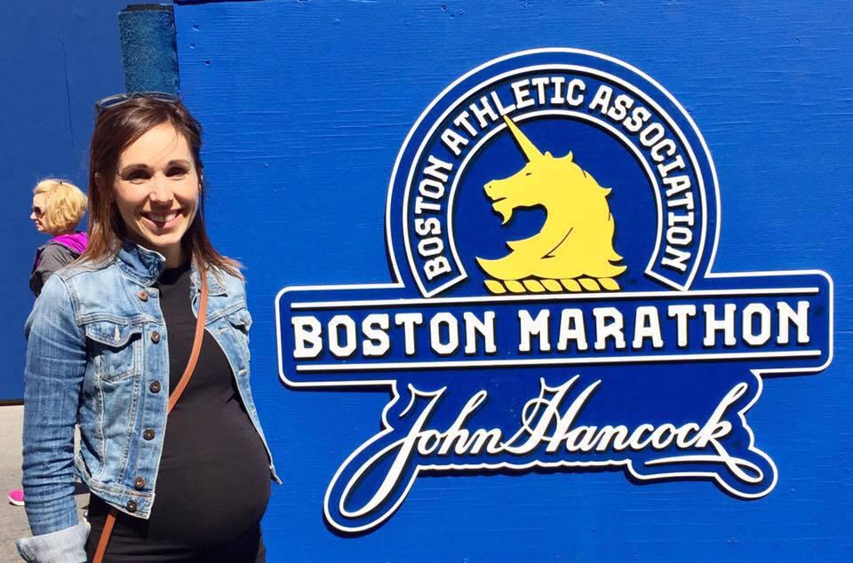 Julie McGivery ran the Boston marathon eight months pregnant