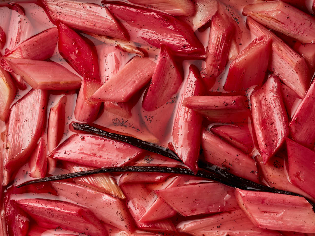 Rhubarb recipes: poached rhubarb