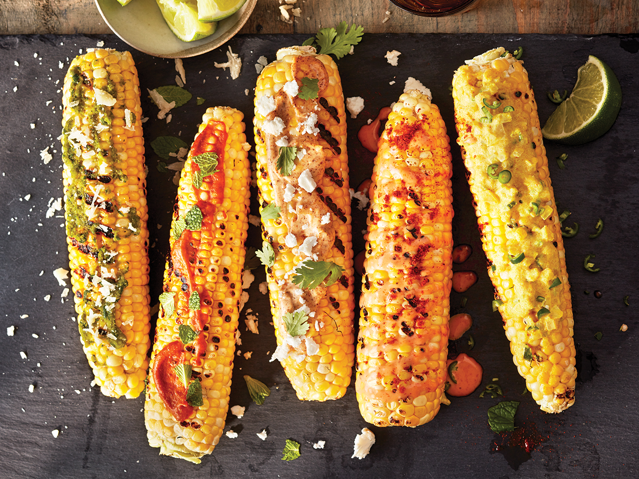 Mexican elote Grilled corn