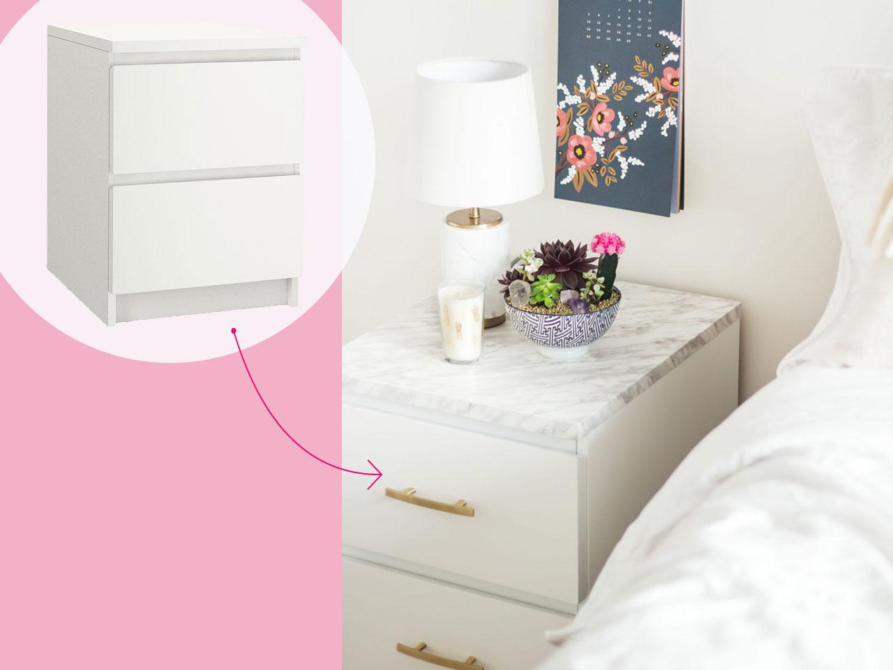 9 standard white dresser turned chic side table