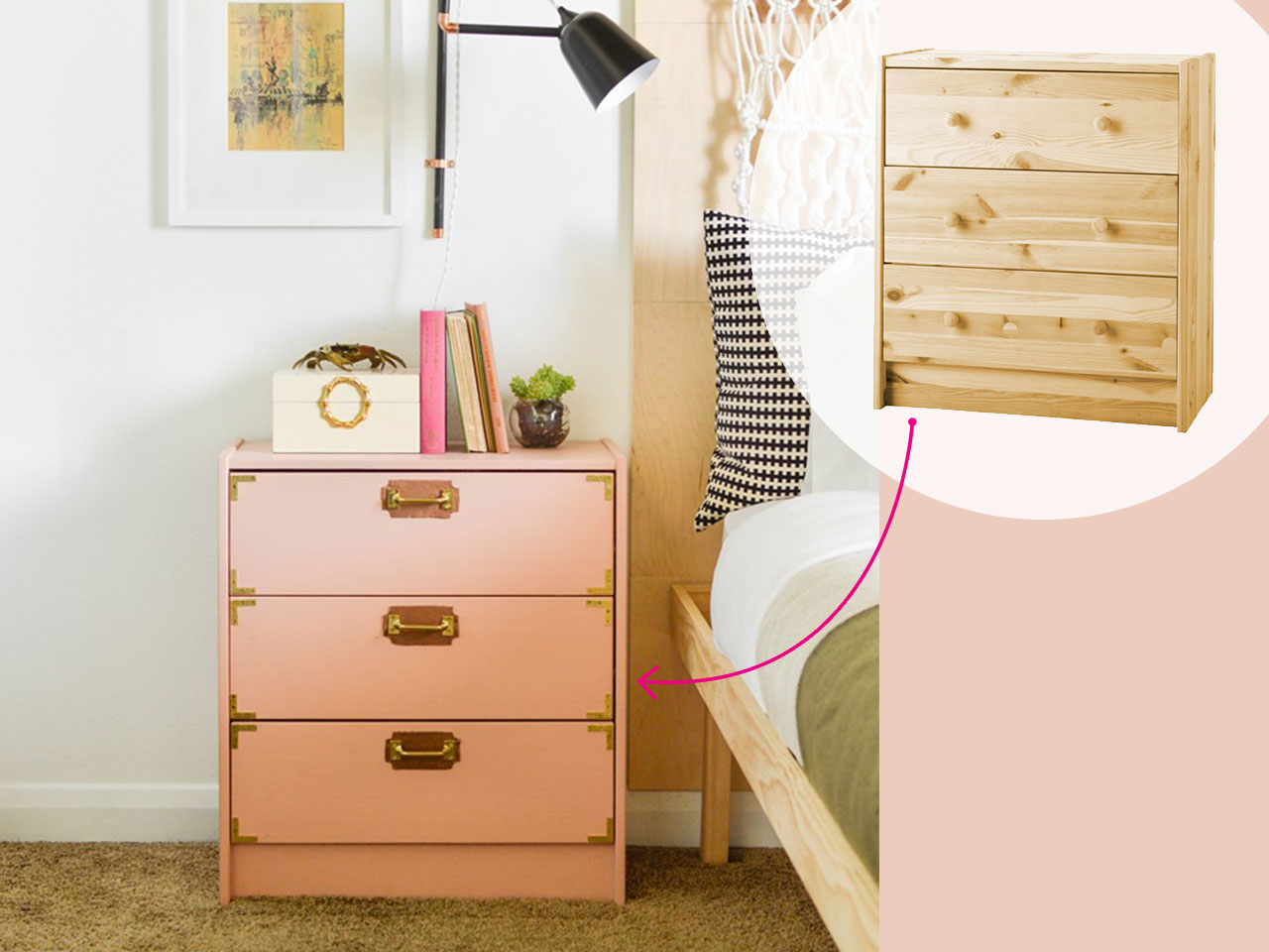 30 of the best diy ikea hacks ever chatelaine. Black Bedroom Furniture Sets. Home Design Ideas