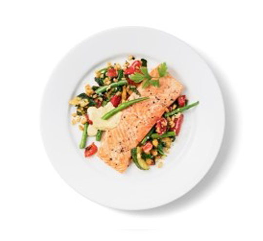 Best Ikea foods: salmon with wheat pilaf