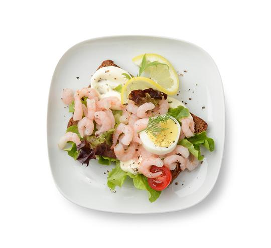 Best ikea foods: swedish Shrimp sandwich