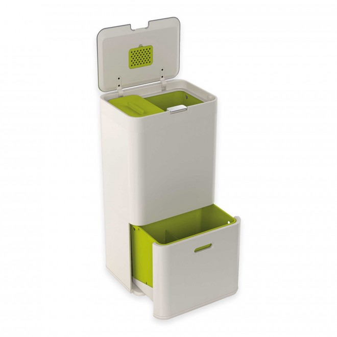Joseph Joseph® IntelligentWaste® Totem 60 Liter Trash Separation:Recycling Unit in Stone Bed Bath & Beyond