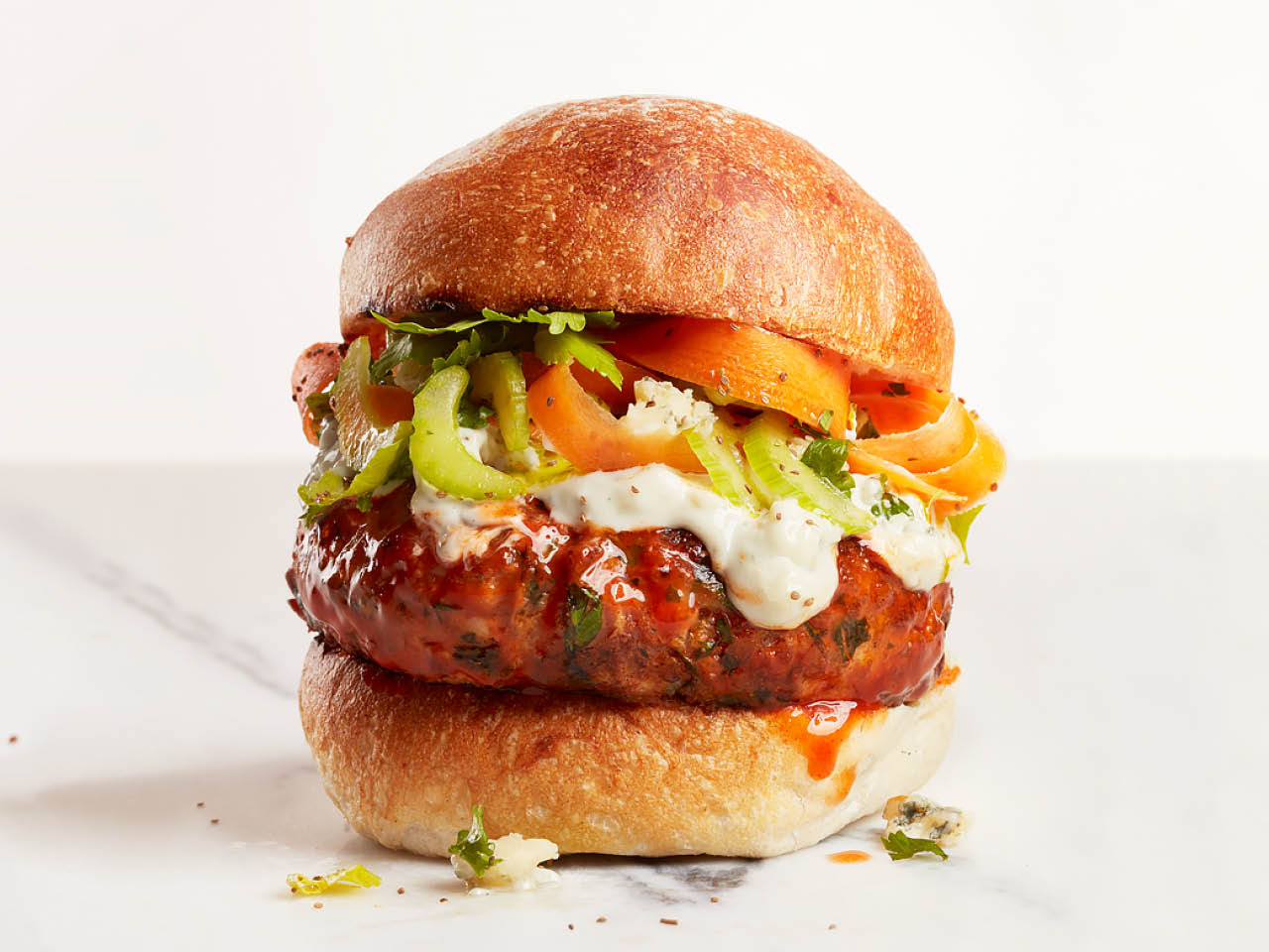 Buffalo Chicken Burger Recipe Chatelaine