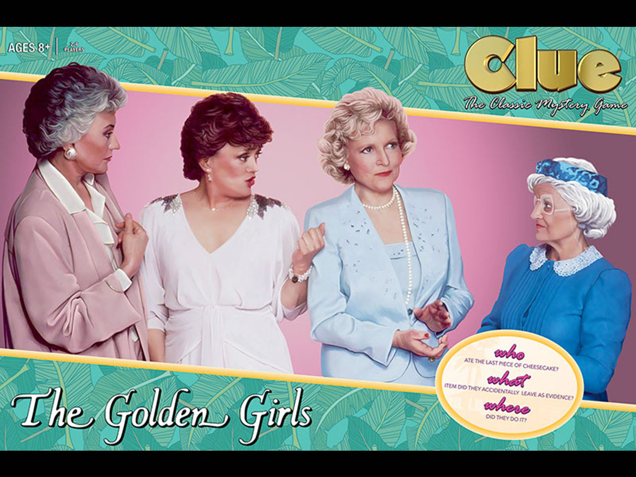 Golden Girls Clue solves the mystery of who ate the cheesecake.