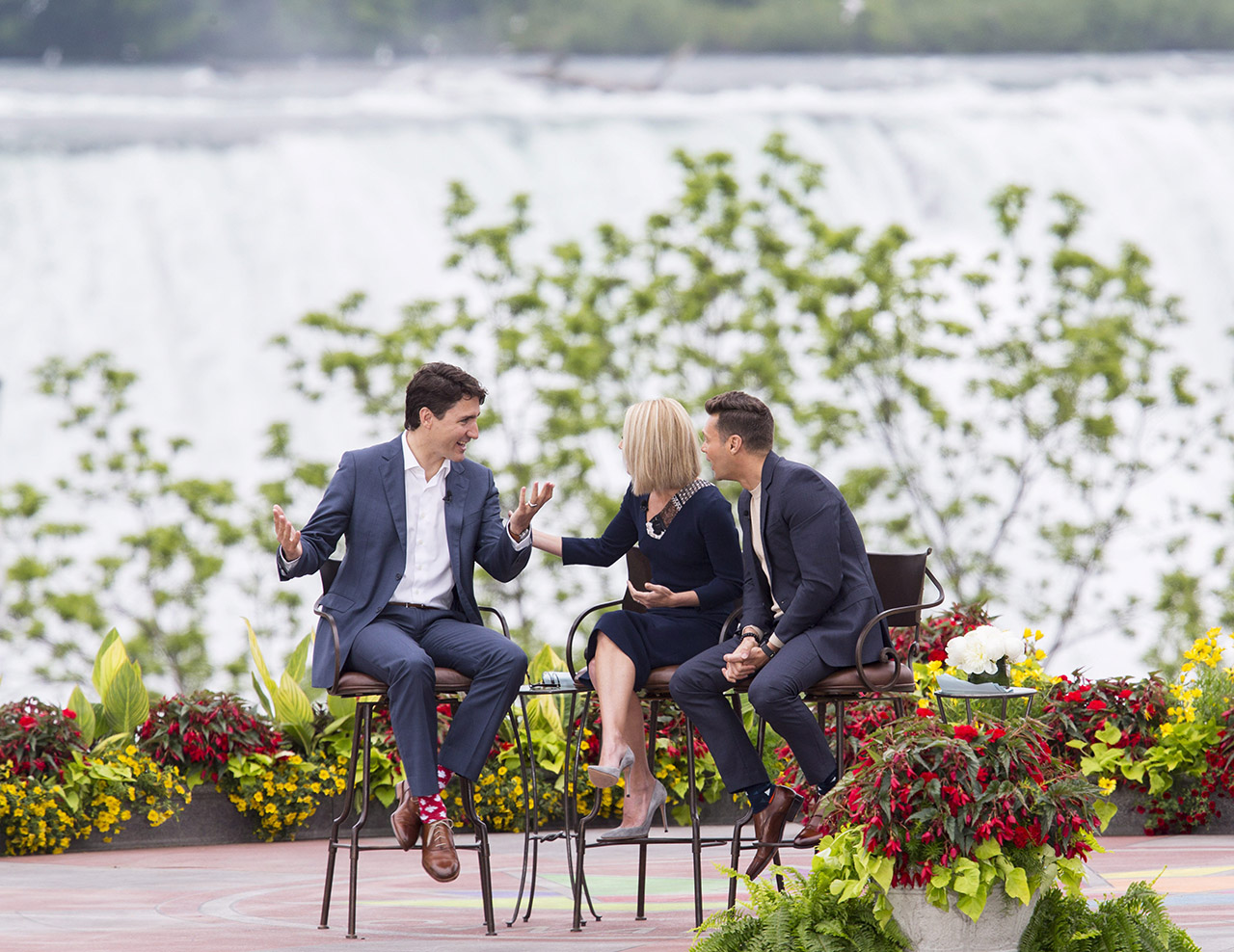 Prime Minister Justin Trudeau on Live with Kelly and Ryan
