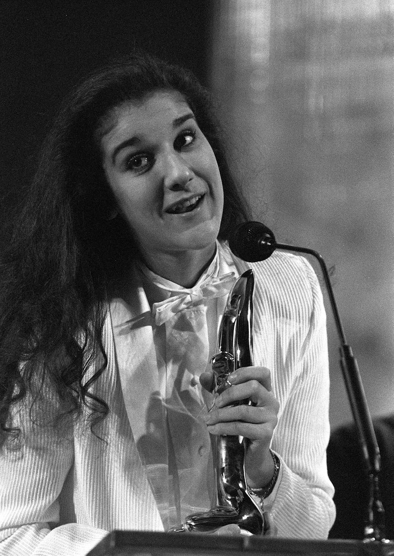 Céline Dion in Montréal with her four Félix awards in 1983.