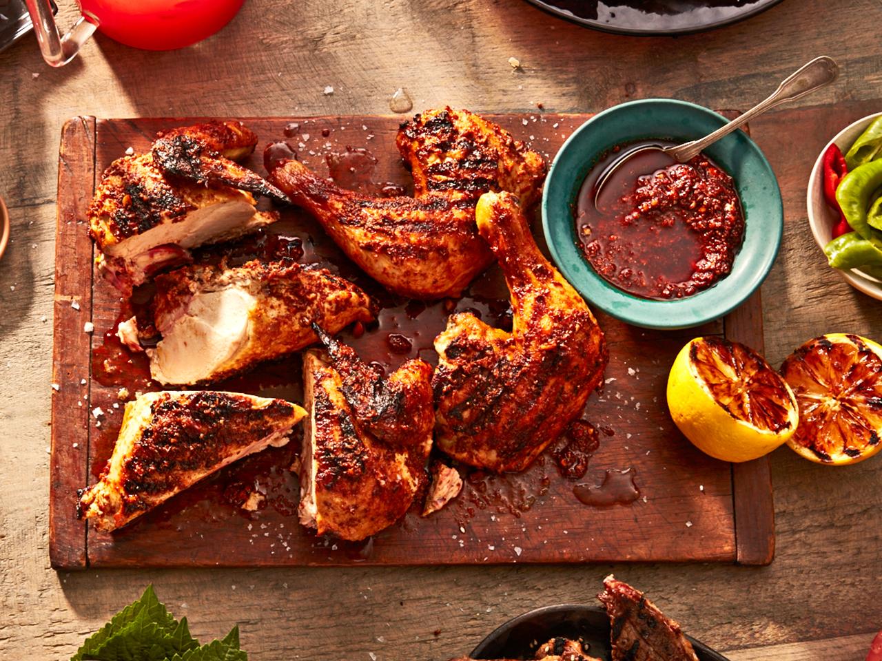 Barbecue menus: Harissa yogurt grilled chicken recipe