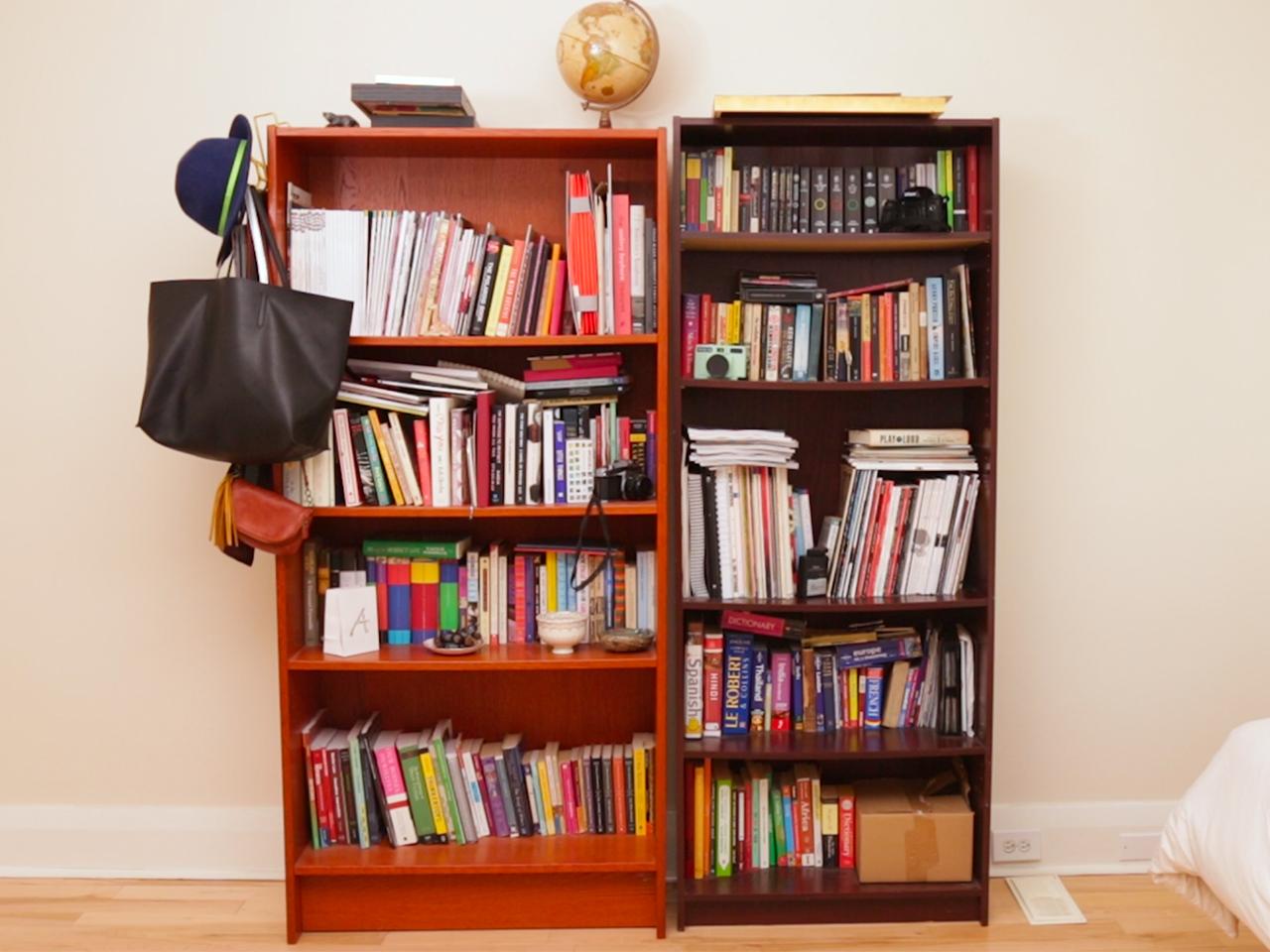 bookshelf bookshelves transform into inspired shelves mismatched masterpiece under books chatelaine falling