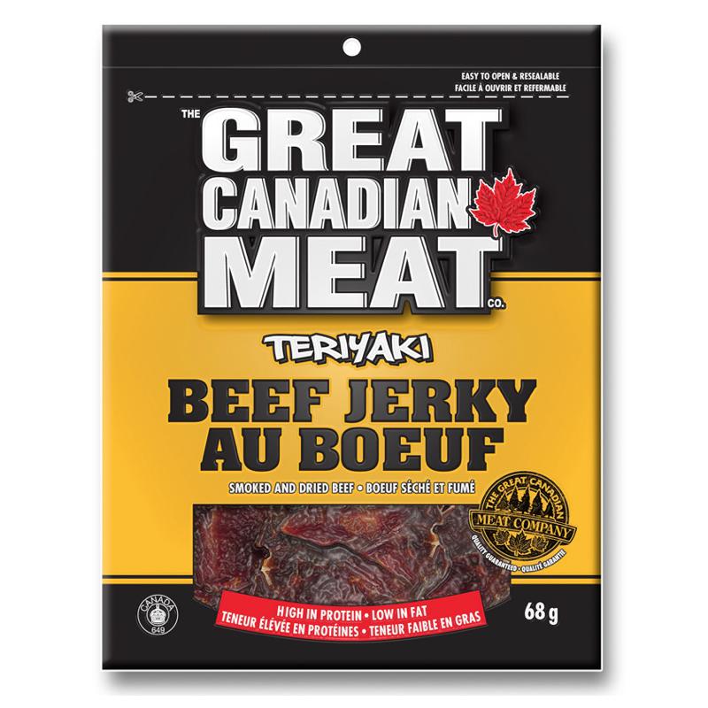 Best beef jerkys: Great Canadian Meat Company - Teriyaki beef jerky