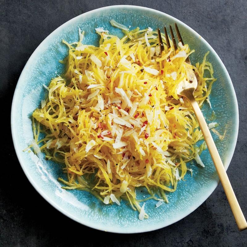 Roasted spaghetti squash with pecorino