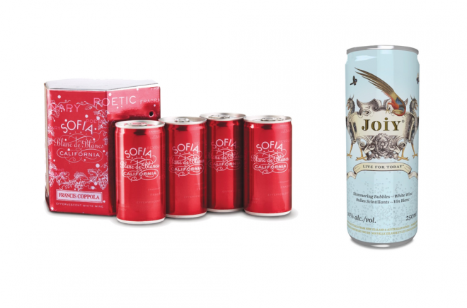 Sparkling wines in a can