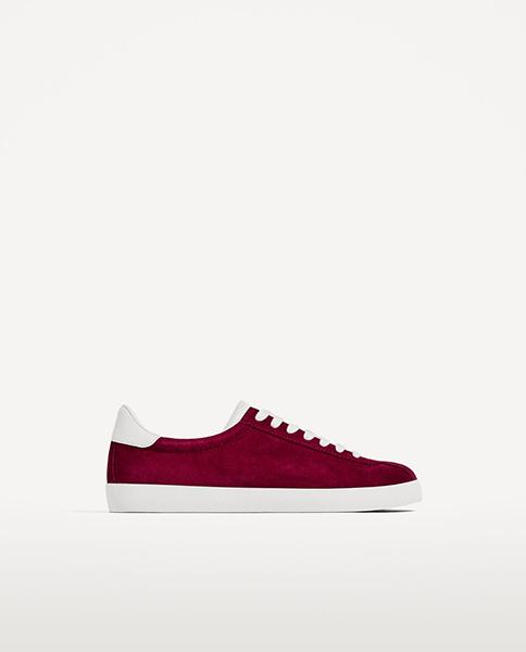 Zara suede sneakers