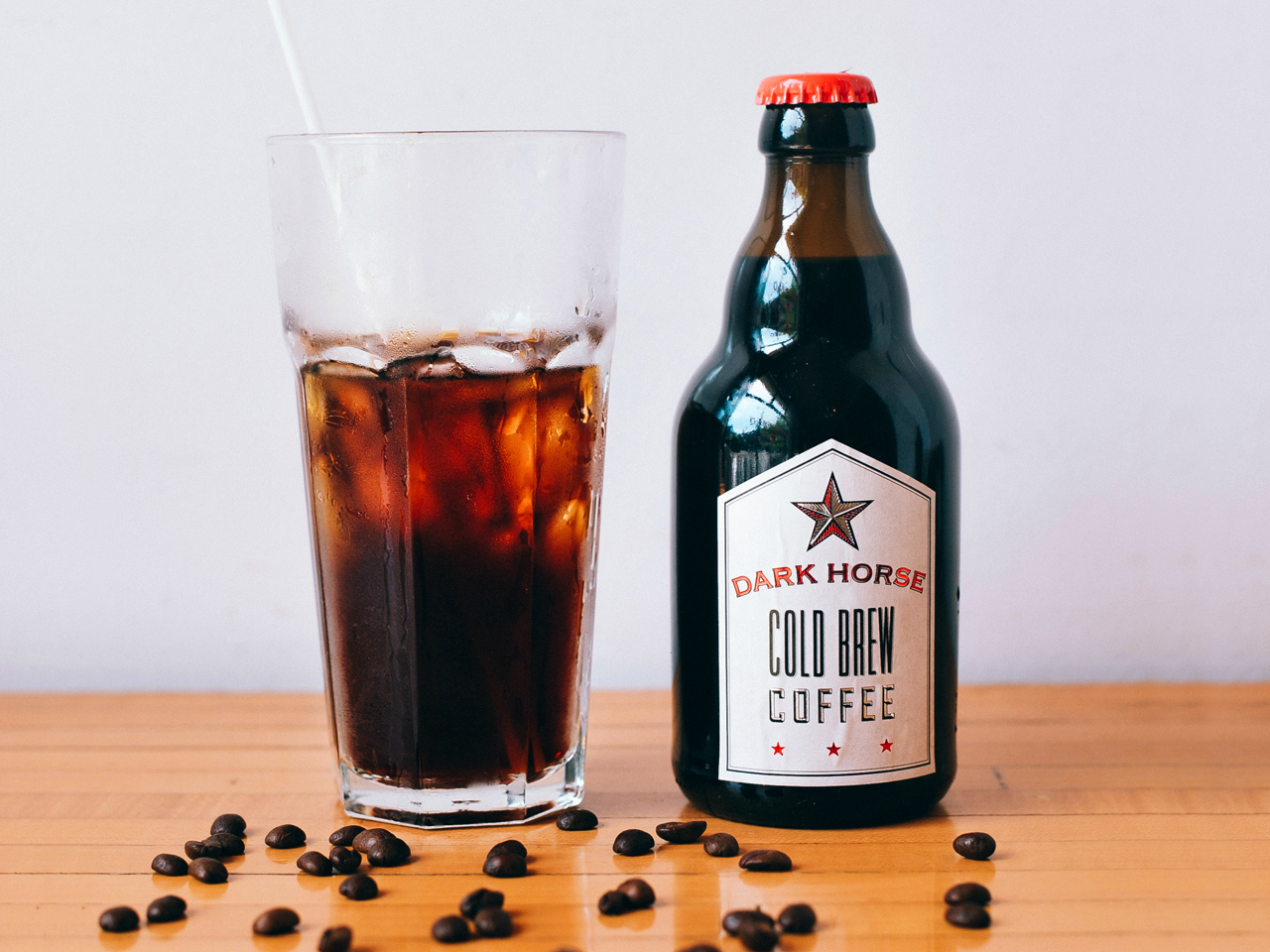 Bottled cold brew coffee: Dark Horse Coffee