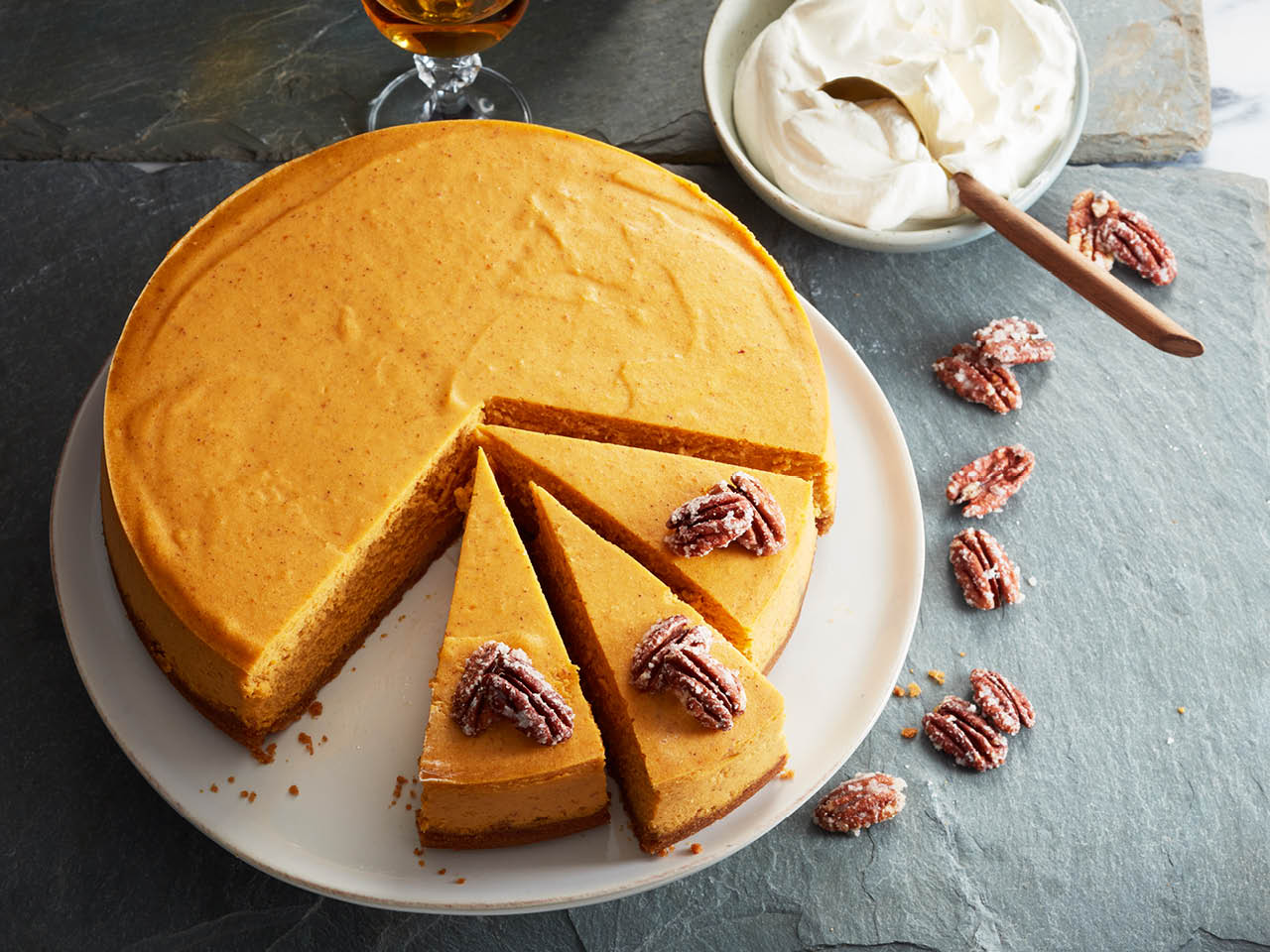 Pumpkin desserts for thanksgiving: Pumpkin cheesecake