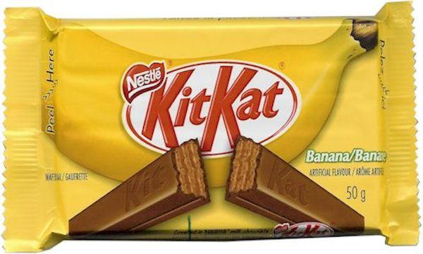 Kit Kat flavours: banana Kit Kat bar