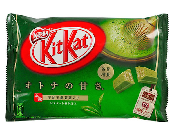 Kit Kat flavours: matcha Kit Kat bar