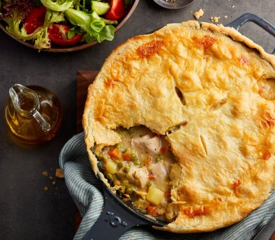One-Pan Dinner Plan: skillet chicken pot pie