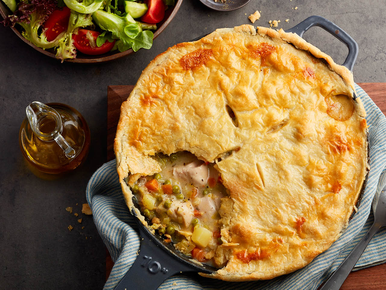 One-Pan skillet chicken pot pie recipes