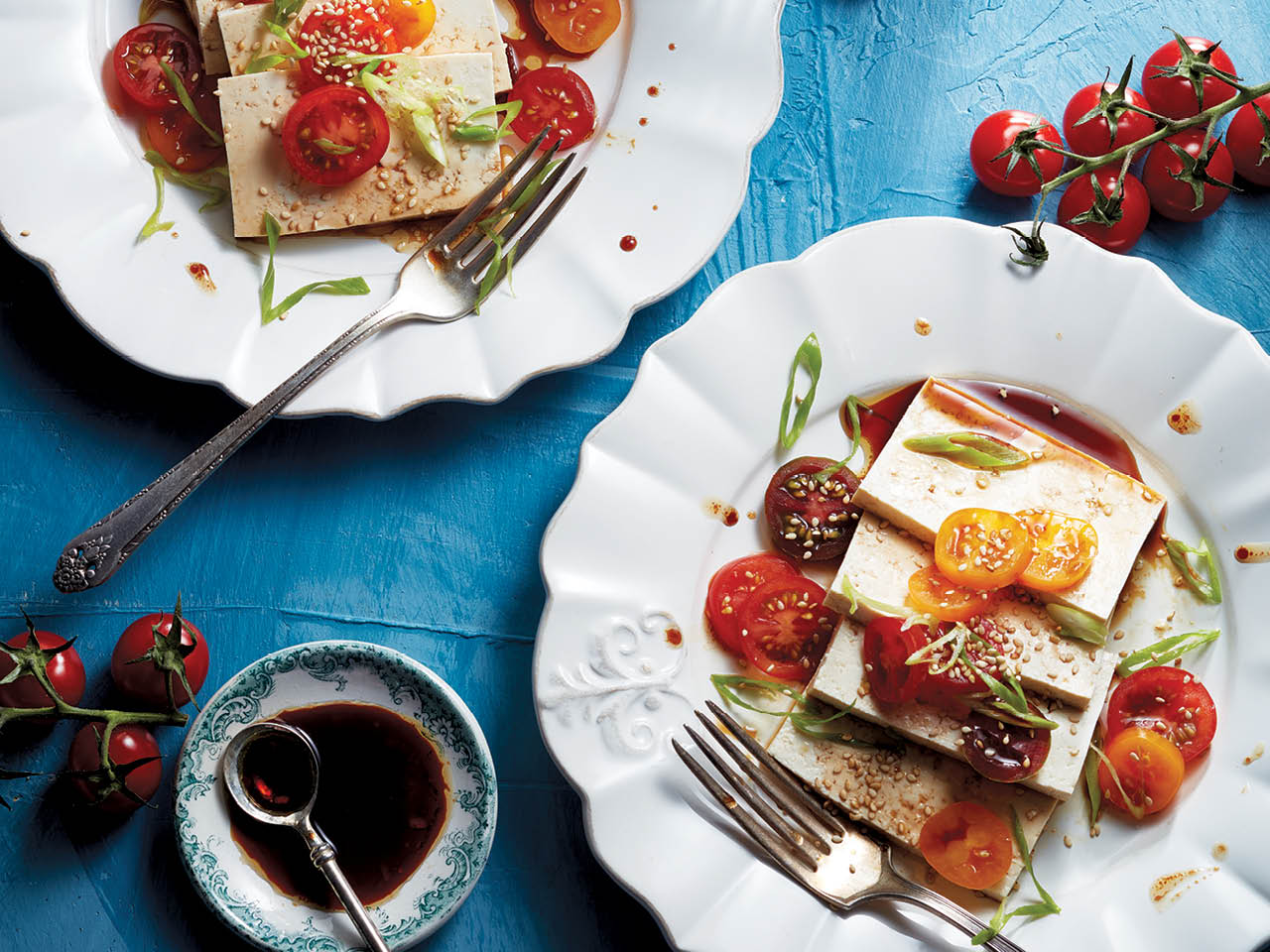 tomato and tofu starter