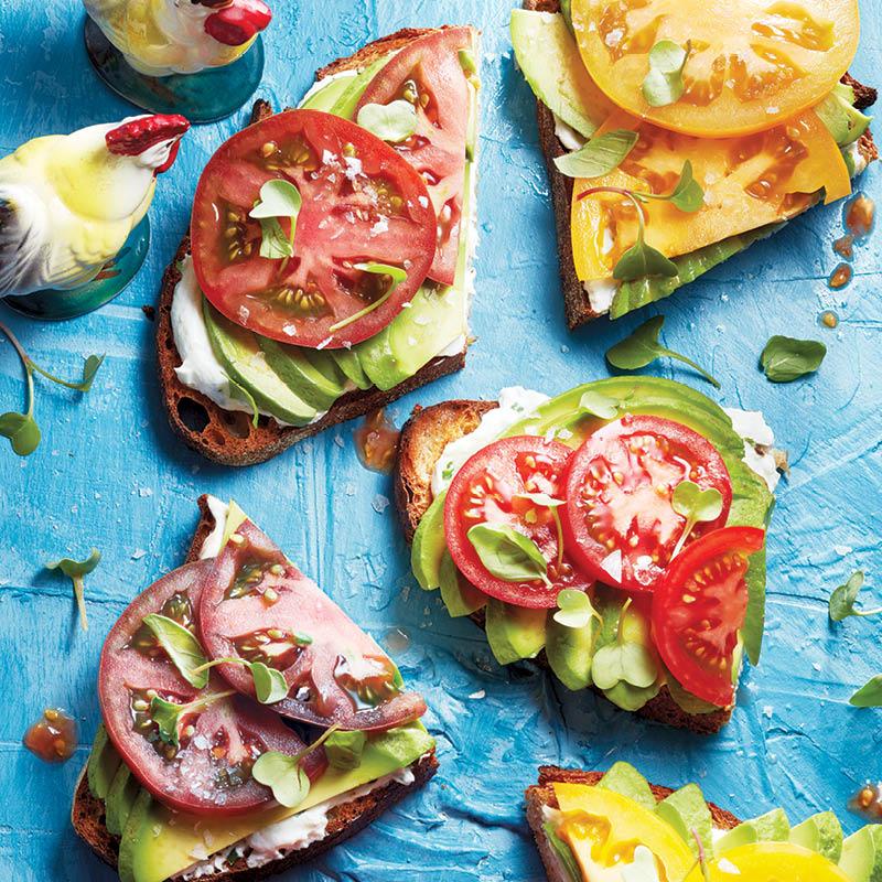 tomato-avocado toast