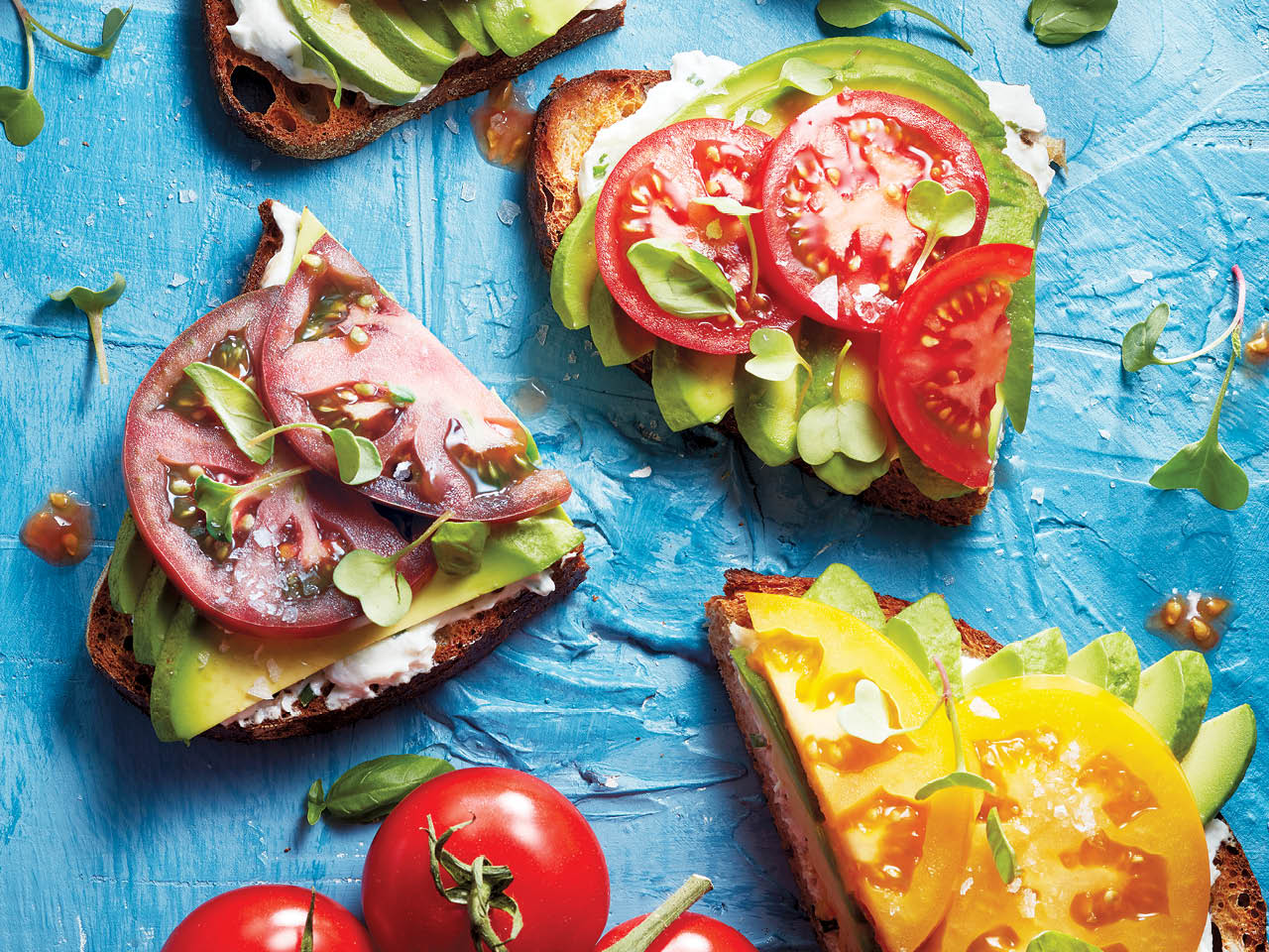 Avocado-tomato toast