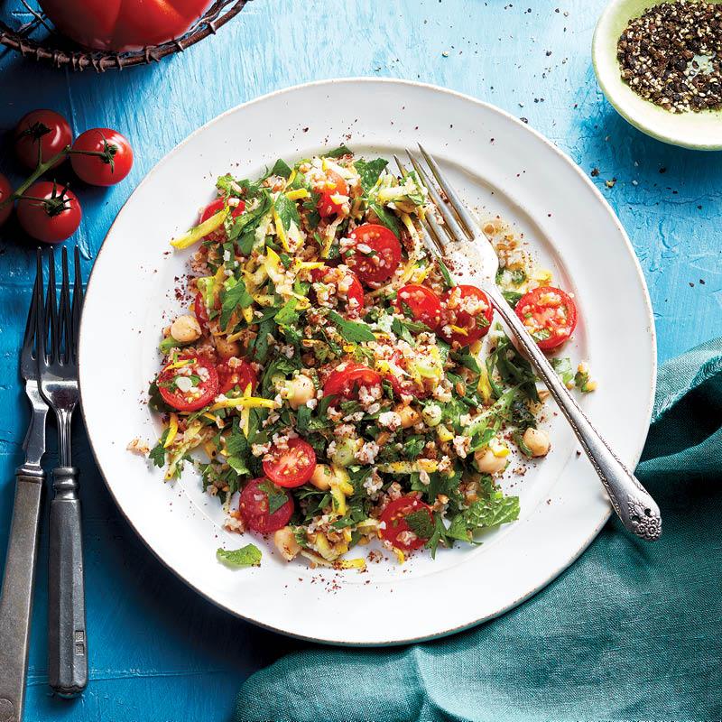 Tomato tabbouleh
