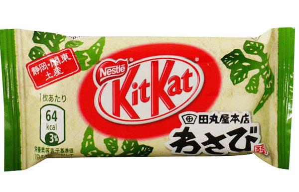 Kit Kat flavours: wasabi Kit Kat bar