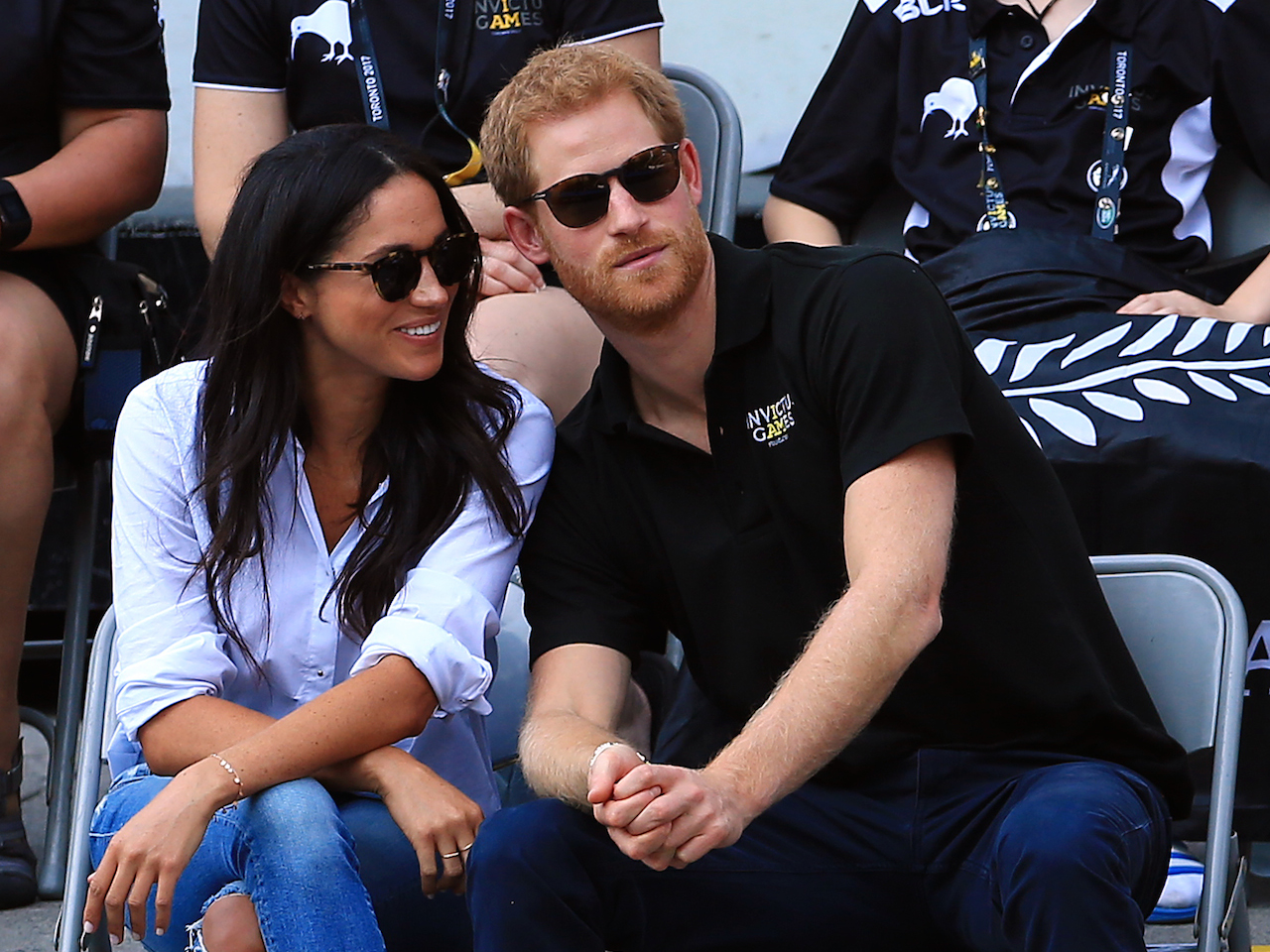Prince Harry and Meghan Markle attend a Wheelchair Tennis match during the Invictus Games 2017 at Nathan Philips Square on September 25, 2017 in Toronto.