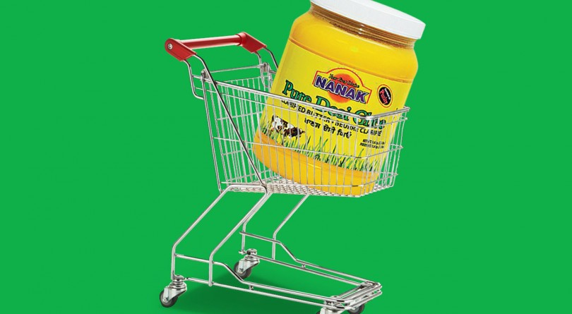 ghee in shopping cart