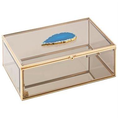 SMOKED GLASS DISPLAY BOX – LARGE, Indigo, $20 (from $45)